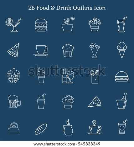 25 Food & Drink Outline Icon