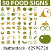 50 food signs. vector - stock vector
