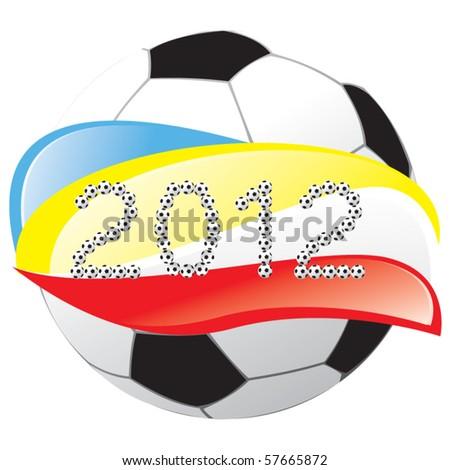 2012 football vector - stock vector