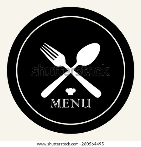 Fork and spoon (MENU) - stock vector