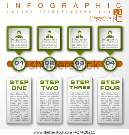 4 four step infographic, vector infographic, template infographic, background infographic, colorful infographic, design infographic, illustration infographic, infographic icon, business infographic 4.