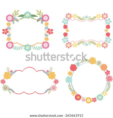 Frame with Flower - stock vector