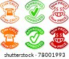 """""""Free call"""", """"approved"""", """"new price""""  vector stickers. - stock vector"""