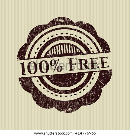 100% Free grunge stamp - stock vector