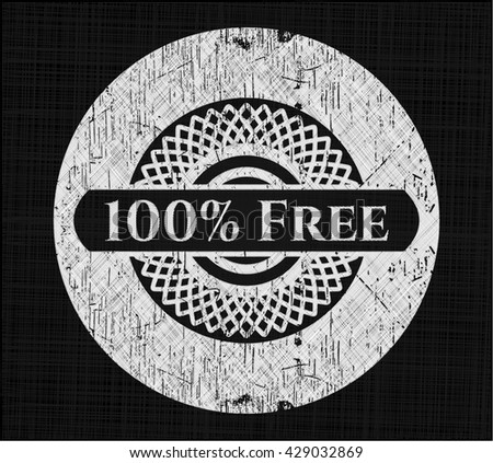 100% Free with chalkboard texture - stock vector