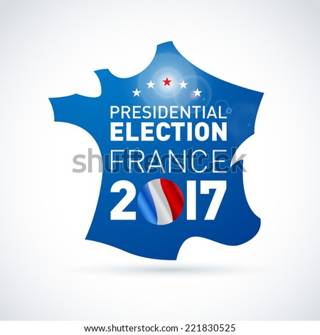 2017 French presidential election illustration. EPS 10 - stock vector