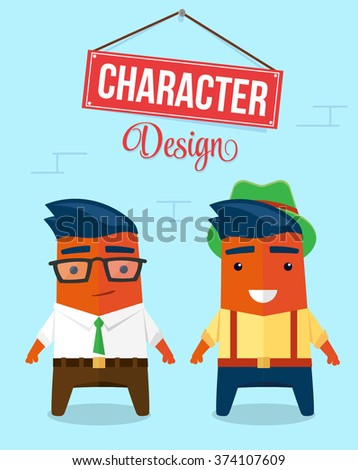 Funny Character Design. Quality Vector Illustration - stock vector