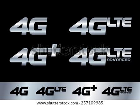 4G - stock vector
