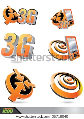 3G Mobile - stock vector