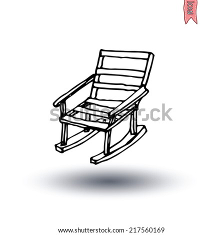garden chair isolated,  vector illustration. - stock vector