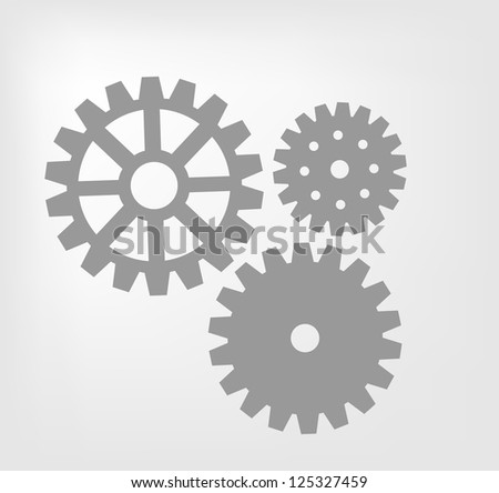 Gear system - stock vector