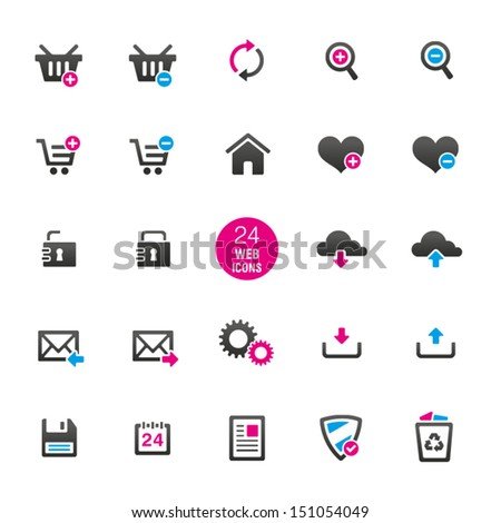 24 General Website Icons - stock vector