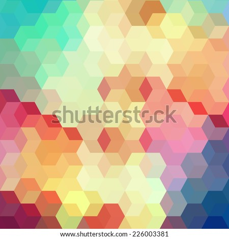 Geometric background. Pattern of geometric shapes.Texture with flow of spectrum effect. Copy that square to the side, the resulting image can be repeated, or tiled, without visible seams.  - stock vector