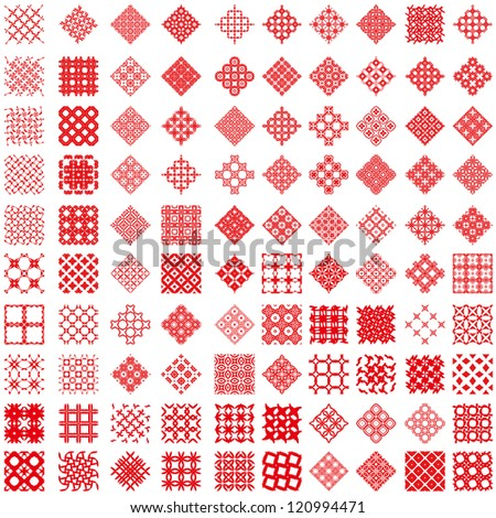 100 geometric background pattern. (vectors) - stock vector