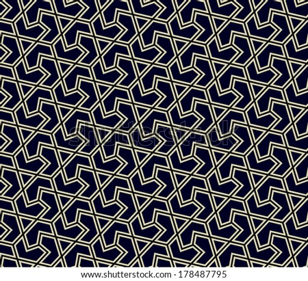 pattern. Traditional Arabic or Islamic seamless ornament. - stock
