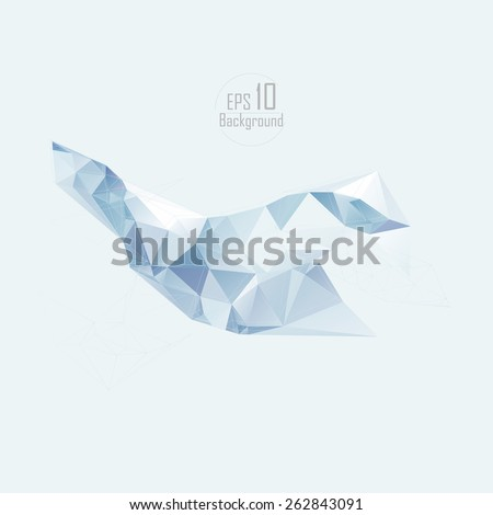 Geometric Triangular Abstract Modern Backgrounds - EPS10 Brochure Design Templates.Low poly design. - stock vector