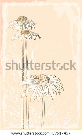 gerbera vintage style bouquet .eps10 - stock vector