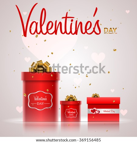 gift box Valentine's day - stock vector