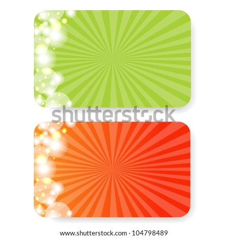 2 Gift Cards, Isolated On White Background, Vector Illustration - stock vector