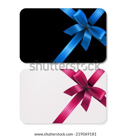 2 Gift Cards, With Gradient Mesh, Vector Illustration - stock vector