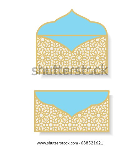Gift Money Envelopes Eid Money Packet Stock Vector 638521621