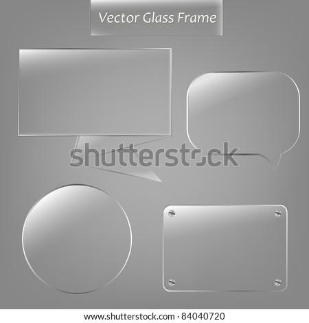 4 Glass Framework, Vector Illustration - stock vector