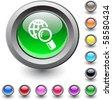 Global search  metallic vibrant round icon. - stock photo