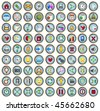 81 Glossy internet and web icons - stock