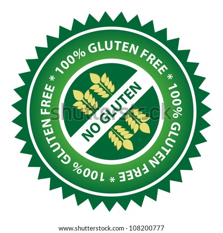 100% Gluten Free food label.