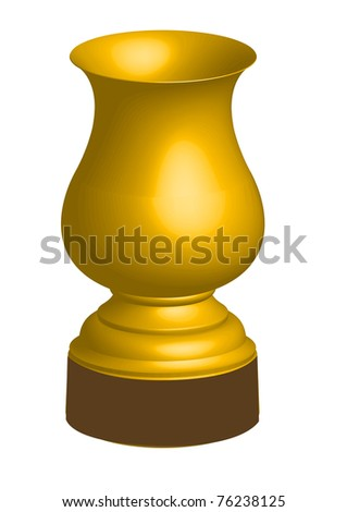 gold cup - stock vector