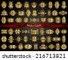 54 Golden Labels - stock vector