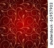 Golden swirls seamless pattern - stock vector