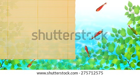 Goldfish blind background
