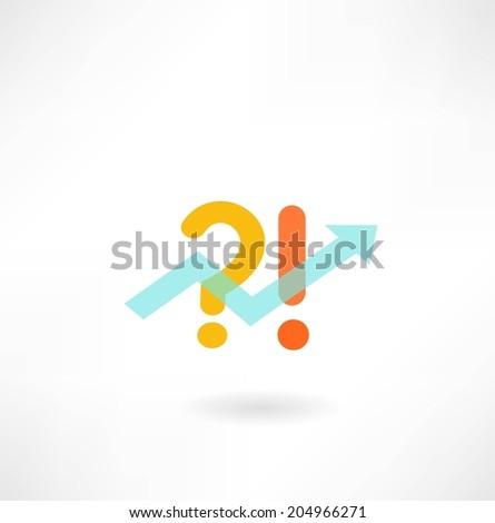 graph arrow icon - stock vector