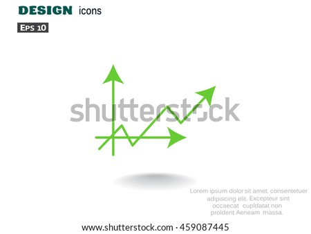 Graph icon vector.