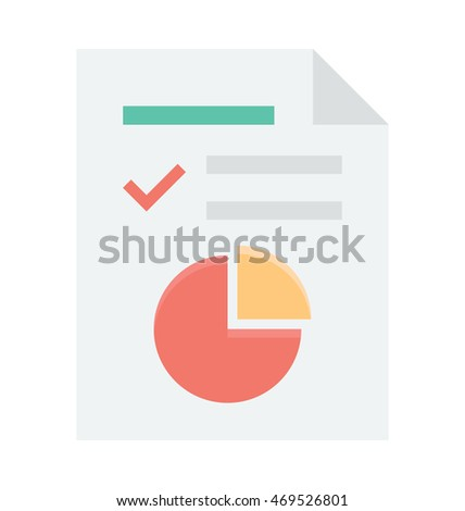 Graph Report Vector Icon