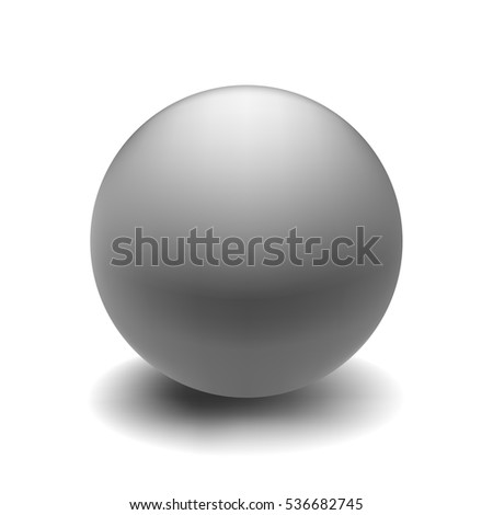 Gray ball realistic vector design element