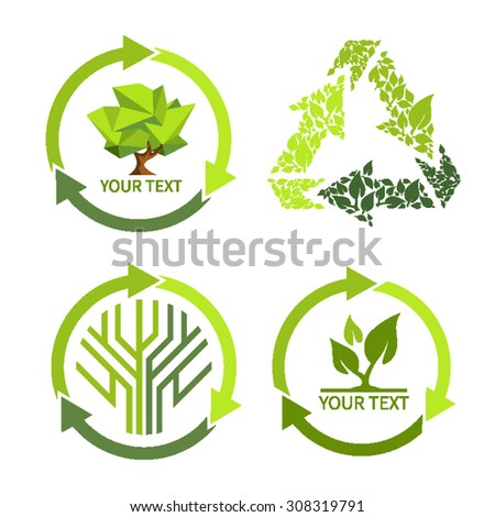 Green  icons - stock vector