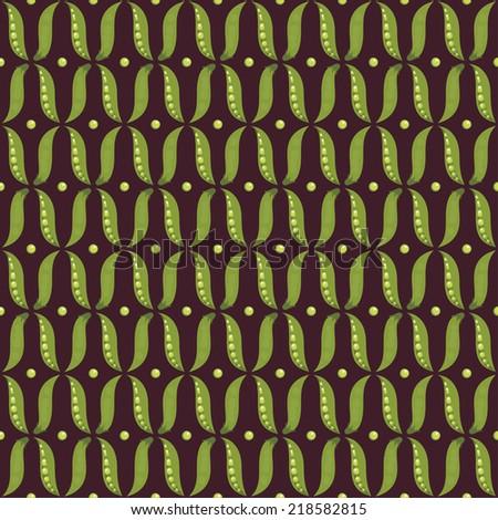 Green peas seamless pattern. - stock vector