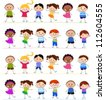 Group of kids playing - stock vector