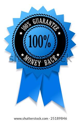 100% guarantee money back - stock vector