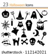 23 Halloween icons (vector) - stock photo