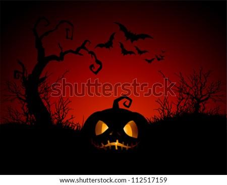 Halloween Pumpkin background - stock vector