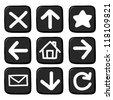 Hand draw icon set.Illustration - stock vector