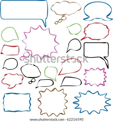 20 hand drawn chat sings. vector - stock vector