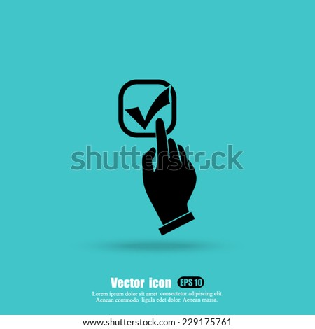 hand selection yes vector icon - stock vector
