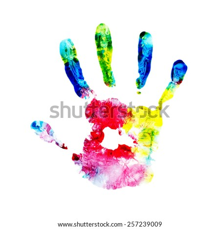 handprint, watercolor hand, kid handprint, kid finger paint , impressionist, kid art, fingerprint, child hand, hand print, finger paint, child art, child fingerprint, coloured hand, kid hand print