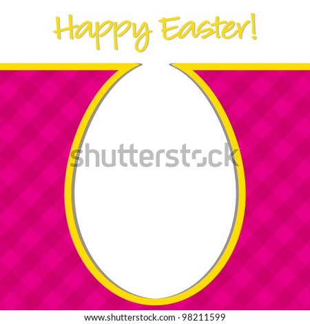 """""""Happy Easter"""" bright egg card in vector format. - stock vector"""