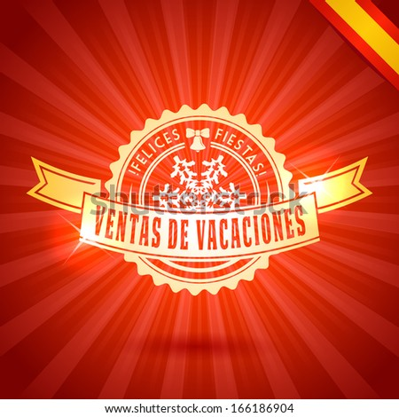 Happy holidays vacation sales greetings spanish stock vector happy holidays vacation sales greetings in spanish m4hsunfo