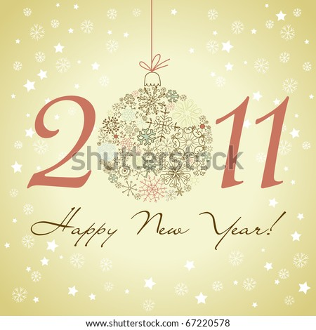 2011 Happy New Year background. - stock vector
